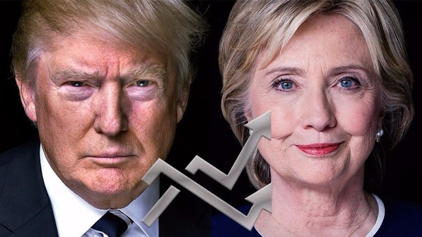 Clinton y Trump, los memes populares