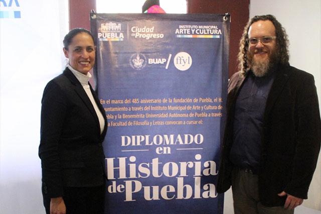 Convocan IMACP y BUAP a diplomado sobre historia de Puebla