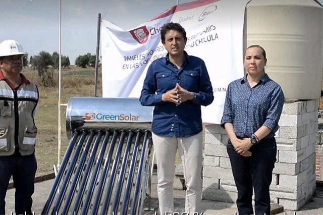 Inicia entrega de calentadores solares en San Pedro Cholula