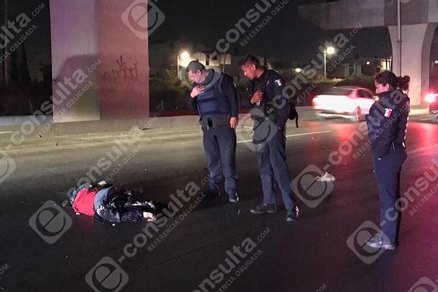 Hombre murió atropellado sobre la autopista México- Puebla