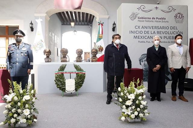 Preside Barbosa conmemoración del inicio de la Revolución en Puebla