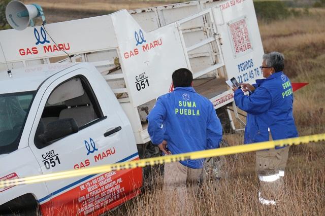 Identifican a repartidor de gas, asesinado en Valsequillo