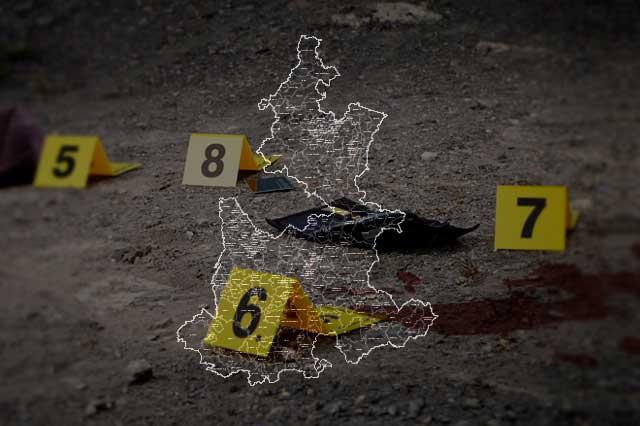 Documenta gobierno federal 3 asesinatos diarios en Puebla