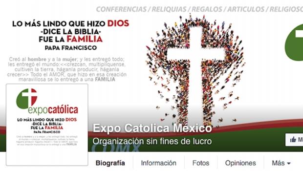 La página de Facebook Expo Católica cuestiona uniones gay
