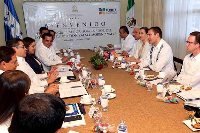Encabeza Moreno Valle misión comercial por Honduras