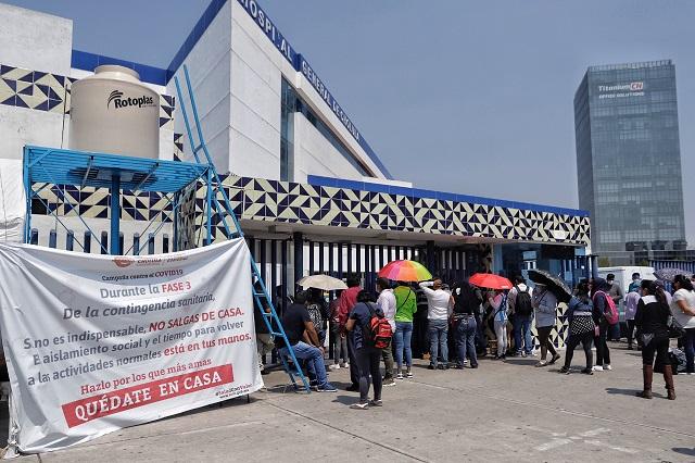 Sin freno, contagios de Covid en Puebla; 123 nuevos en un día