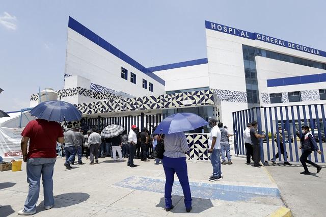 Hospitales Covid en Puebla casi ocupados al 100%