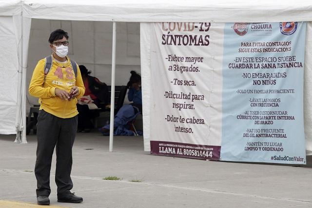 Reportan drástica baja en contagios de Covid-19 en Puebla