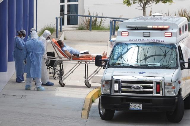 Bajan hospitalizados pero crecen muertes por Covid-19 en Puebla