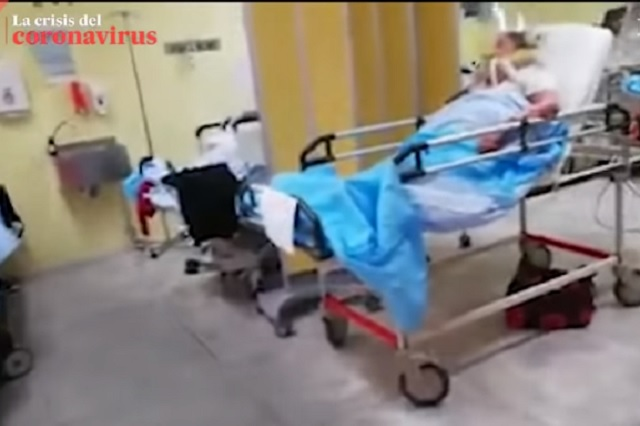 Así se ve el interior de un hospital lleno de enfermos de coronavirus
