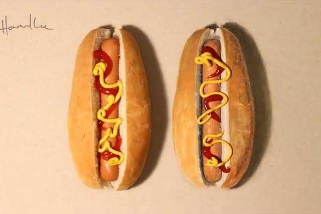 Retan a internautas a descubrir cuál es el hot dog falso