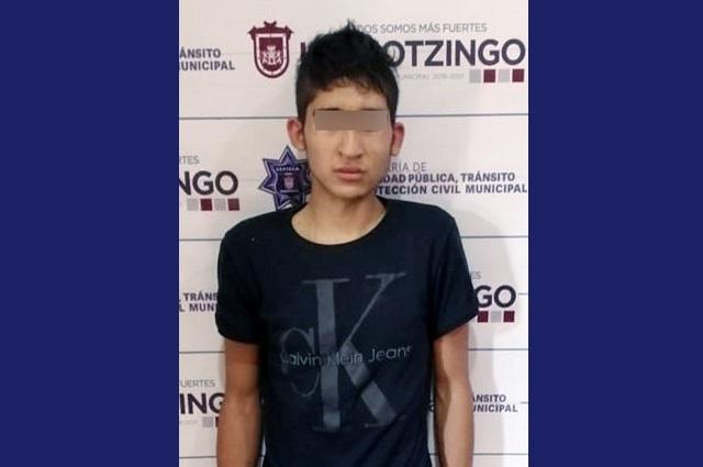Detienen en Huejotzingo a asaltante de gasolinera