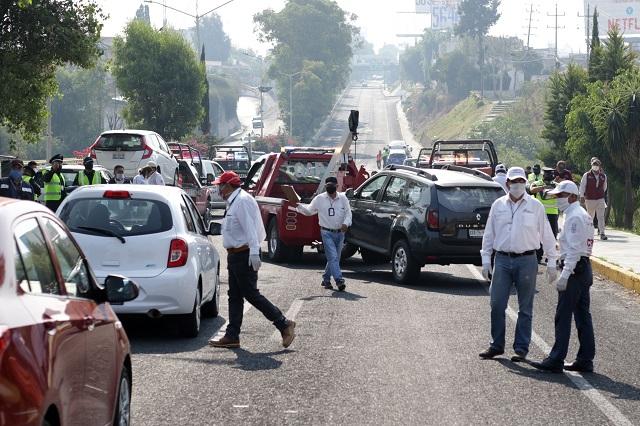 Caen 3 automovilistas por hora en el Hoy No Circula de Puebla