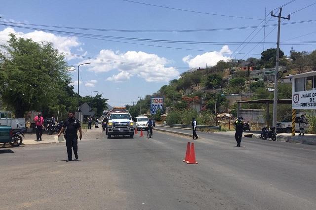 """Hallan  armas y drogas en operativo """"Hoy no circula"""" en Izúcar"""