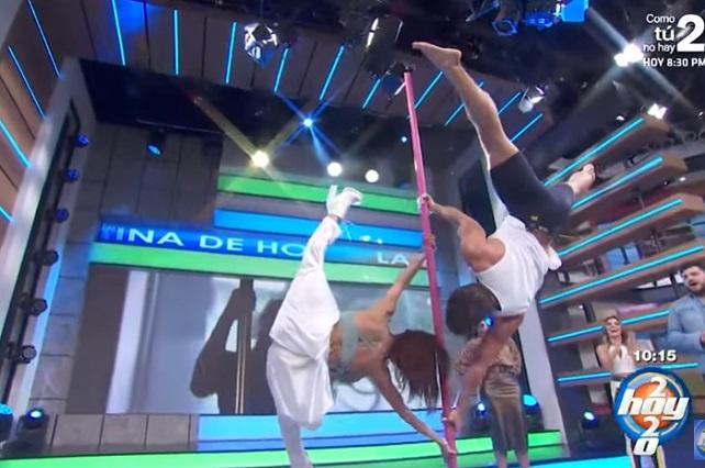 Video: Conductores de Hoy toman clase de pole dance con María León