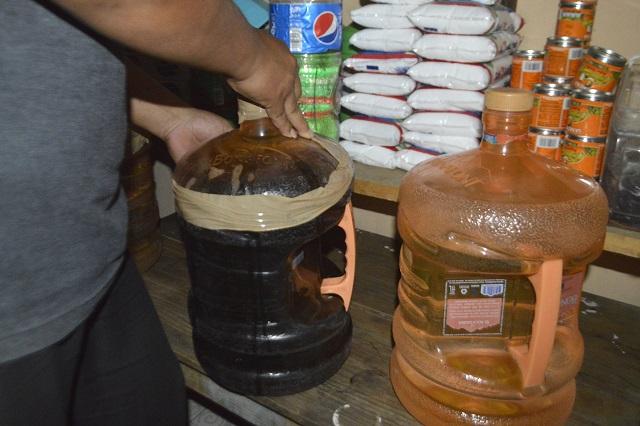 Decomisan en Chiconcuautla 350 litros de alcohol tras muertes