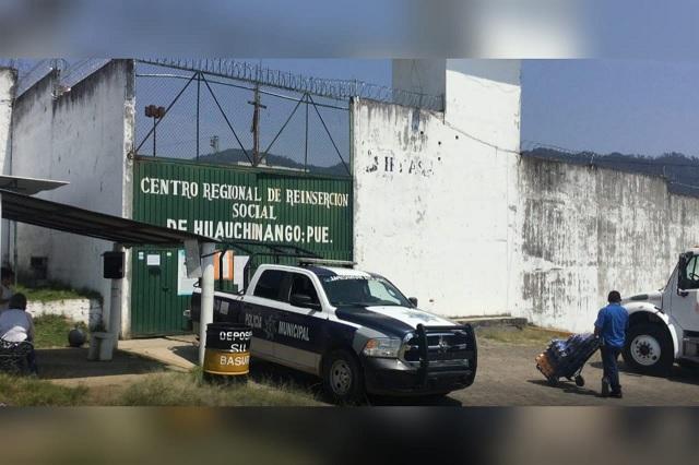 Mujer es detenida tras intento de ingresar droga al penal de Huauchinango