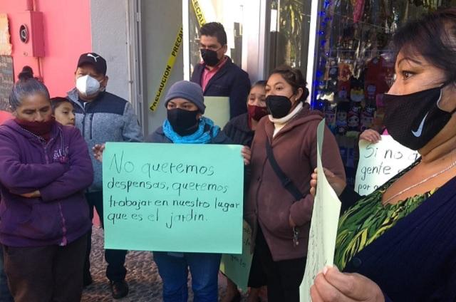 Comerciantes de Huauchinango exigen reubicación