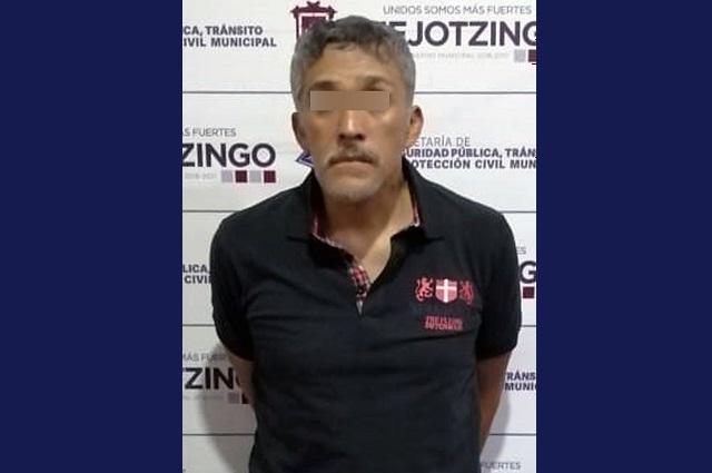 Detiene policía de Huejotzingo a presunto narcomenudista