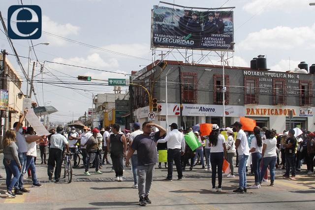 PRD y candidato se deslindan de protestas en Huejotzingo