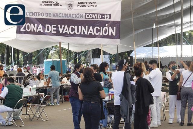 Ya recibieron vacuna completa 1 millón 238 mil 594 poblanos