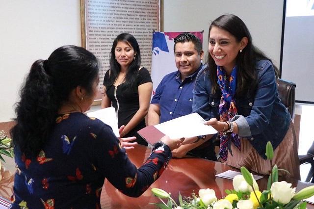Realizan segunda entrega de corrección de actas en Huejotzingo