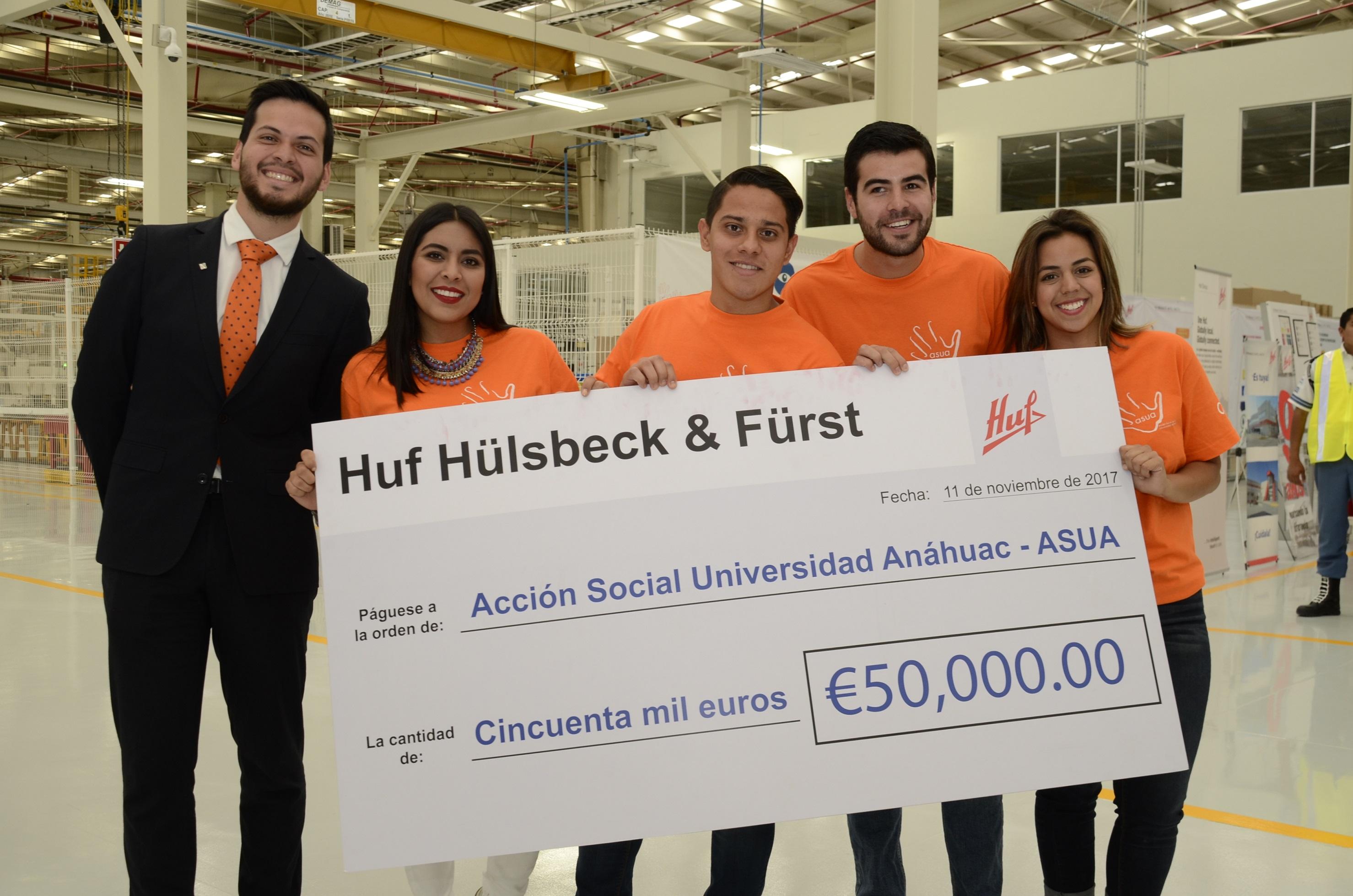 Huf Group y Universidad Anáhuac se unen en apoyo a damnificados
