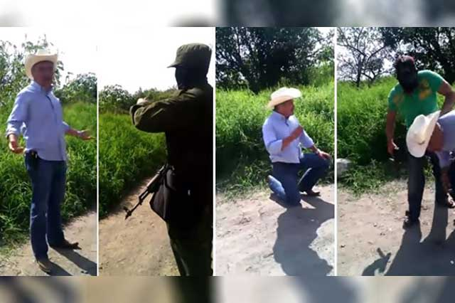 Video: Narcos humillan y obligan a hincarse al edil de Mazatepec