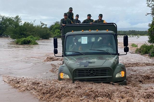Huracán Pamela desborda ríos y amenaza a familias en Nayarit