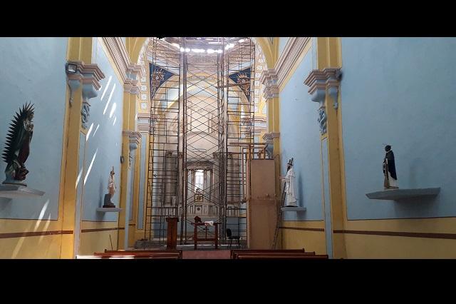 En Atlixco toman misa en templo dañado por el 19S