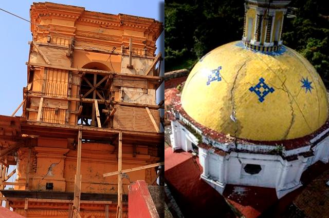 Acusa Iglesia abandono del INAH a templos de Puebla dañados el 19S
