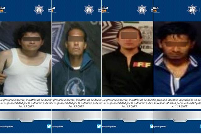 Policía estatal asegura a cuatro personas por diferentes ilícitos