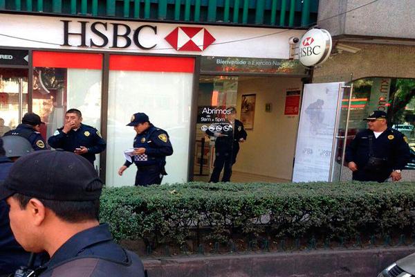 En 15 minutos, un ladrón asaltó dos sucursales bancarias en Polanco
