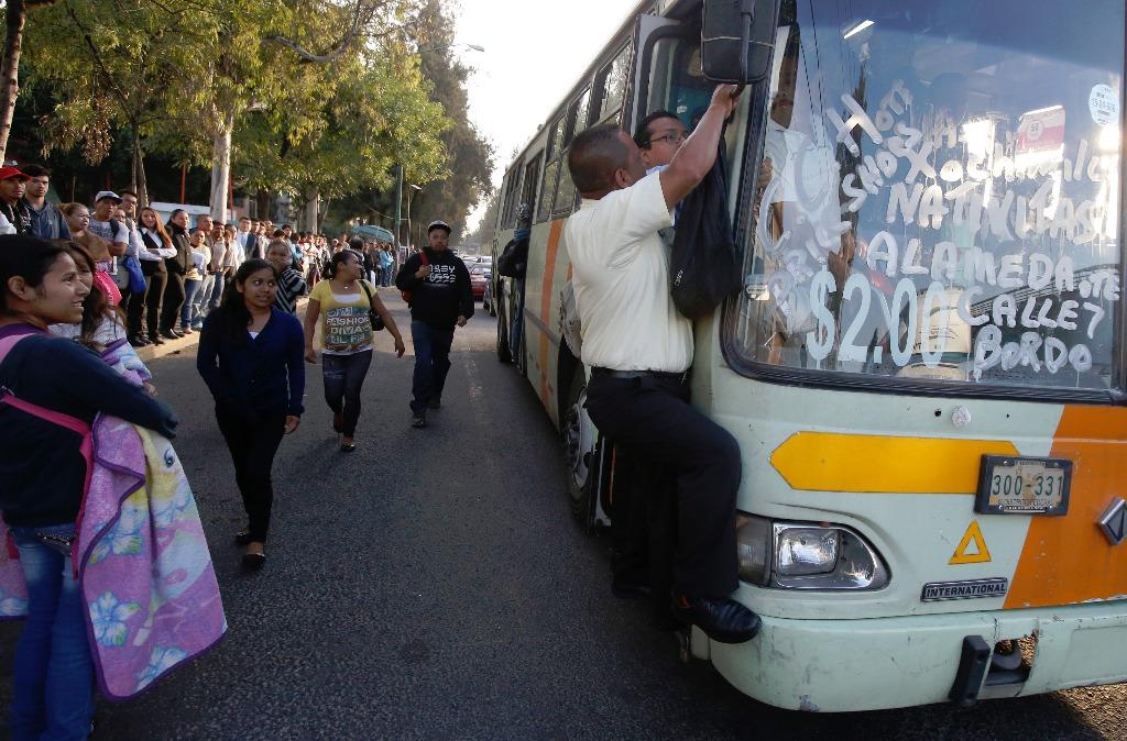 Transportistas rechazan el alza de tarifas en la CDMX