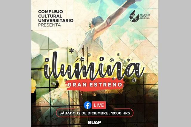 Compañías artísticas CCU BUAP presentan el audiovisual Ilumina
