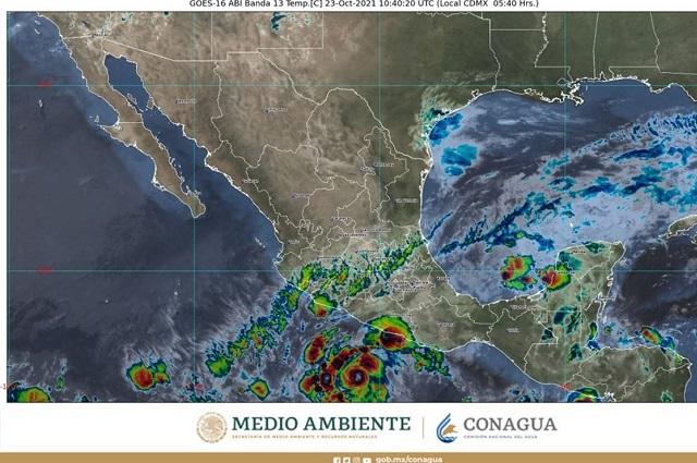 Por huracán Rick habrá lluvias en 8 estados, incluido Puebla