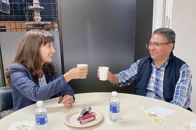 Respalda Ana Tere dupla Díaz y Castro para dirigir al PAN Puebla