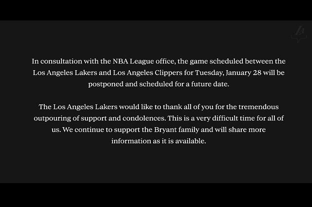 Foto / Twiter / @Lakers