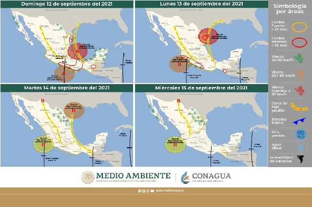Alertan por lluvias e inundaciones en Puebla el fin de semana
