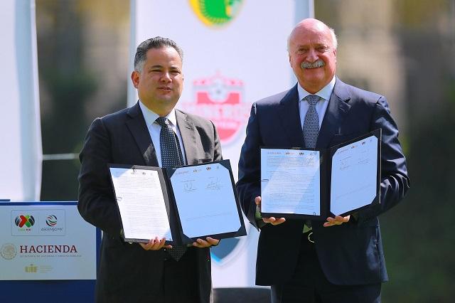 Hacienda y Liga MX firman acuerdo para evitar fraudes