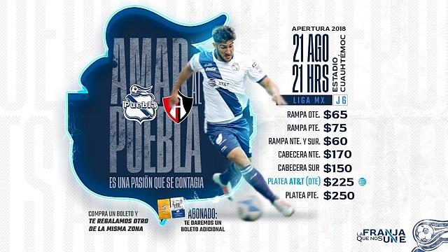 Club Puebla recibe al Atlas y regala boletos