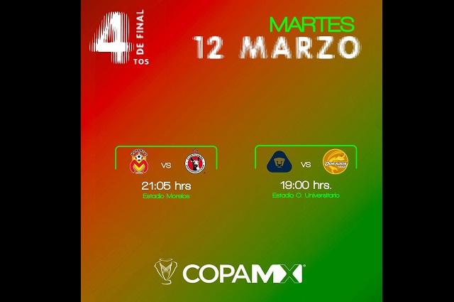 Arrancan los cuartos de final de la Copa MX