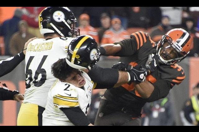 Brutal pelea entre Browns y Steelers termina con castigos severos