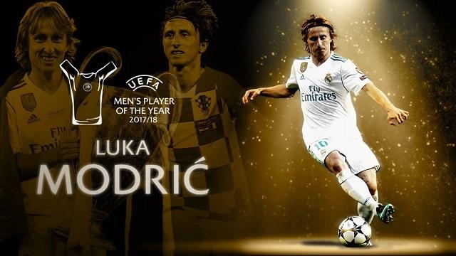 Modric se lleva el premio al mejor jugador del año en la UEFA