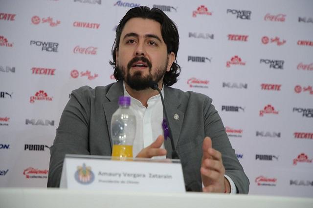 No habrá mediocridad y Chivas no se vende: Amaury Vergara