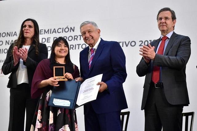 Alexa Moreno recibe el Premio Nacional del Deporte 2019