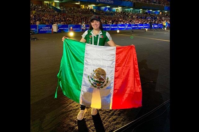 Alexia Lagunas, fortalecida  al participar en la Universiada Mundial Nápoles 2019