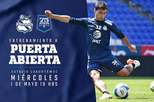 ¡Poblanos! Club Puebla entrenará a puerta abierta en el Cuauhtémoc