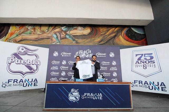 Regresa Caliente como socio comercial del Puebla de La Franja
