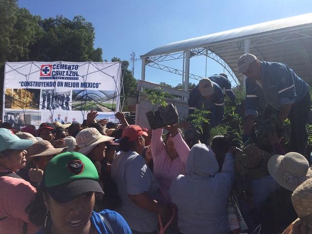 Promueve Cruz Azul reforestación en Tecamachalco